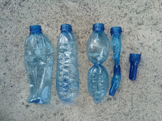 Plastic bottles with defects
